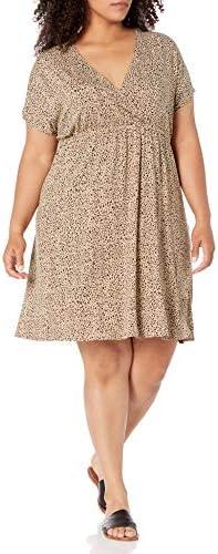 Amazon Essentials Women s Plus Size Surplice Dress Mini Leopard 2X product image