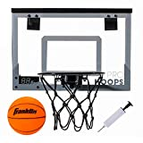 Franklin Sports Over The Door Mini LED Scoring Basketball Hoop - Slam Dunk Approved - Shatter Resistant - Accessories Included