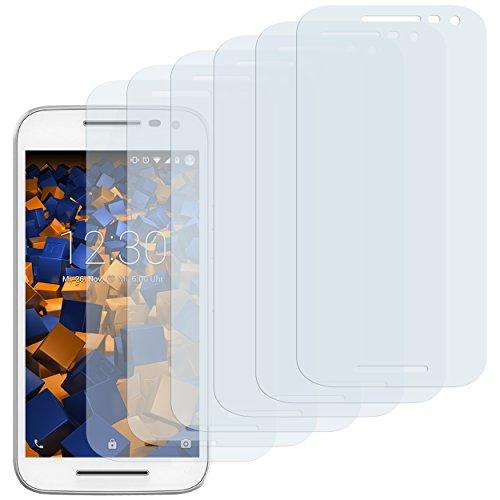 mumbi Schutzfolie kompatibel mit Motorola Moto G 3. Generation Folie klar, Bildschirmschutzfolie (6X)