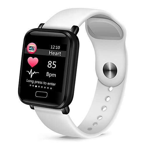 YUYLE Smartwatches voor dames, dames, bloeddruk, hartslagmeter, basketbal, fitnesstracker, sport, smart, inteligente, wit