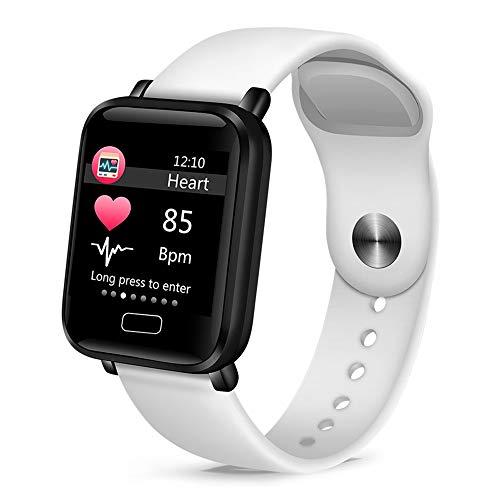 YUYLE Smartwatches voor dames, dames, bloeddruk, hartslagmeter, basketbal, fitnesstracker, sport, smart, inteligente, wit