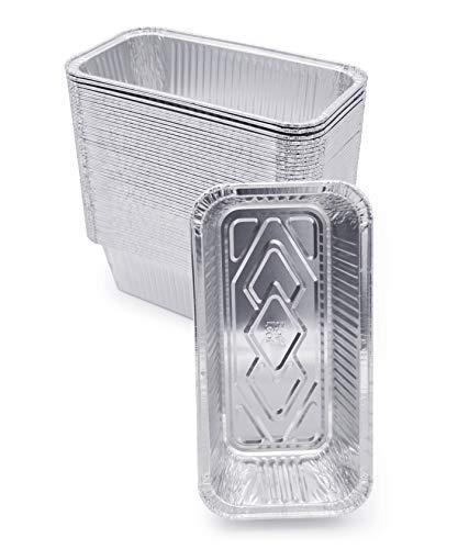 (60 Pack) Premium 2-LB Bread Loaf Baking Pans – 8.5″ x 4.5″ x 2.5″ l Heavy Duty l Disposable Aluminum Foil Tins for Cakes Meatloaf Lasagna