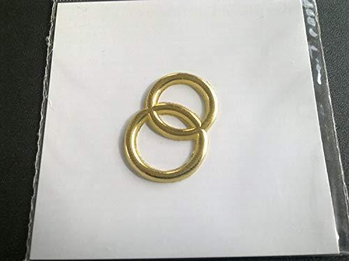 """efco """"Hochzeit Ringe Wachs Dekoration Gold Brilliant, 30mm"""