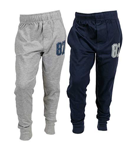 chopper club Pantalones de chándal de algodón para niños, paquete de 2, 1 azul marino + 1 gris, 6-7 Años