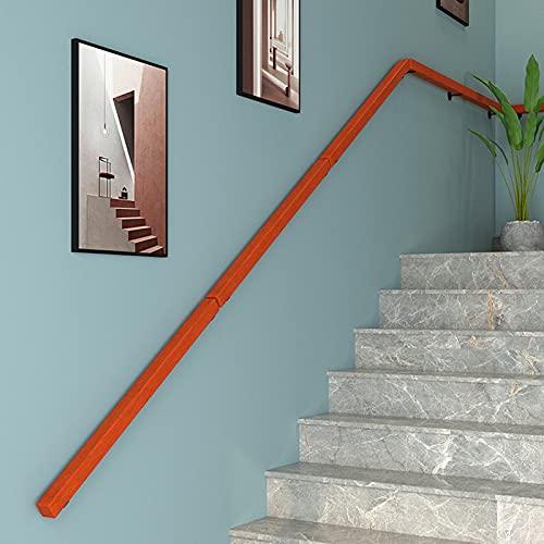 ZXXL Pasamanos Pasamanos de Madera para Escaleras 0.3m-1.5m de Largo, Inicio Pasillo Escalera Barandilla Cuadrada con Accesorios, Barandillas de Seguridad de Soporte De Pared (Size : 1.2m(4ft))