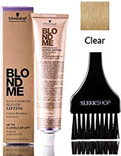 Schwarzkopf BLOND ME Bond Enforcing BLONDE LIFTING, Up to 5 Levels of Lift HAIR COLOR (with Sleek Tint Applicator Brush) Blondme Haircolor (CLEAR)