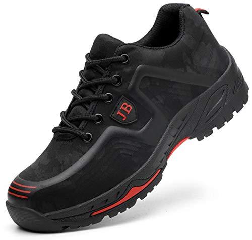 Zapatos Trabajo Seguridad Desodorantes Ligeros Y Transpirables para Hombre, Zapatos Seguridad Antipinchazos con Punta De Acero, Zapatillas De Deporte Protectoras con Entresuela De Kevlar