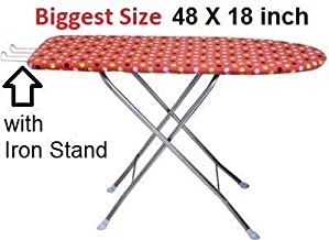 GUDS Folding Ironing Board/Iron Table with Press Stand for Home Extra Large Big Size (Wooden Big)
