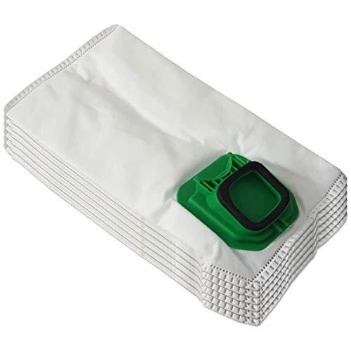 6 bolsas de microfibra adecuado para aspiradoras Folletto Vorwerk Kobold 140, 150, VK 140, VK 150, VK140, VK150, FP140, FP150 – con cierre higiénico