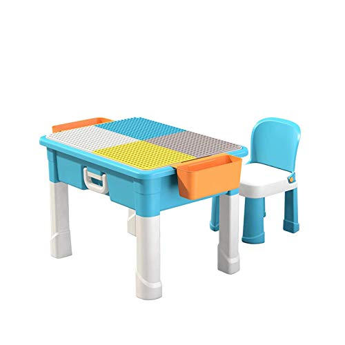 Bausteine Tisch, Kinder Tisch Multi Activity Spielset, Vielseitiges Spielzeug für Jungen und Mädchen