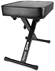 RockJam Premium Teclado acolchado ajustable, Banco y taburete de piano