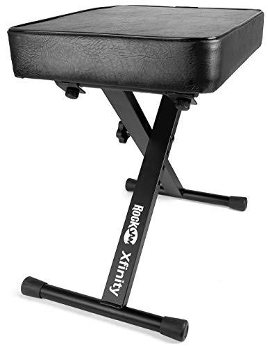 RockJam Premium verstellbare, gepolsterte Keyboardbank & Klavierhocker