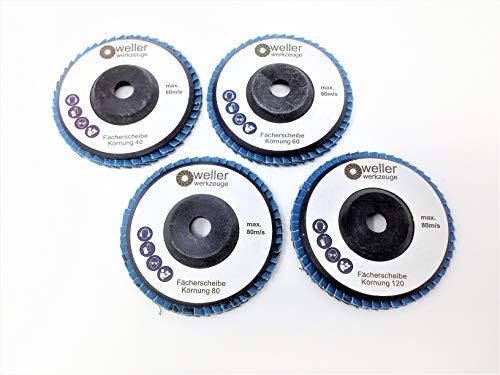 Juego de 4 discos abrasivos de grano 40/60/80/120, apto para Bosch GWS 10,8 10 8 12V 12 76