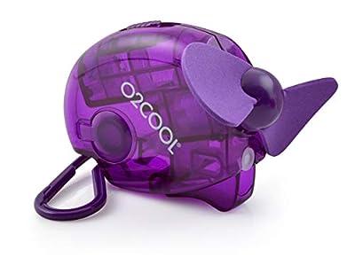 Small Carabiner Keychain Misting Fan, Purple