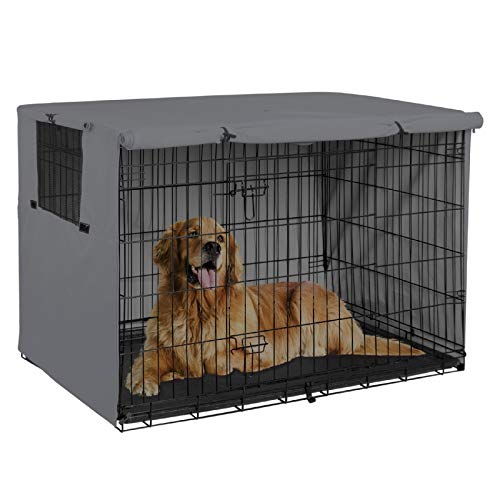 Explore Land 42 inches Dog Crate Cover - Durable Polyester Pet Kennel Cover Universal Fit for Wire...