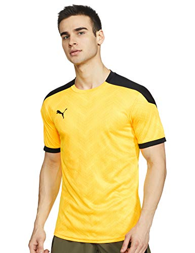 PUMA Ftblnxt Graphic Shirt Camiseta, Hombre, Ultra Yellow Black, L