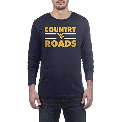 Top of the World West Virginia Mountaineers Men's Modern Fit Premium Cotton Long Sleeve Team Color Tee, X-Large
