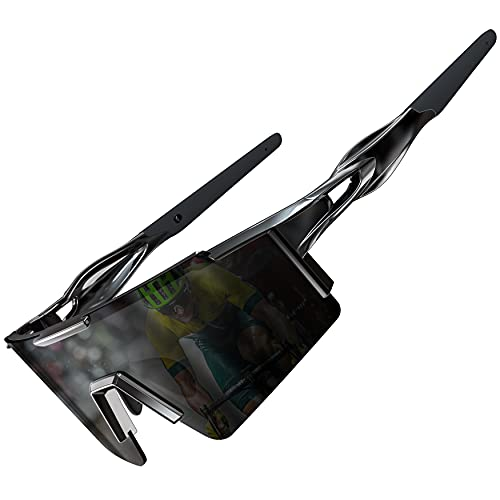 ATTCL Bike Sunglasses, Cycling glasses,Polarized Bicycle Sunglasses for Women and Men, UV Protection XQ550 Black
