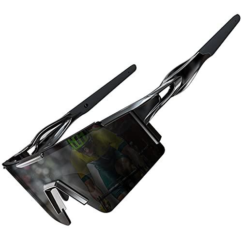 ATTCL Occhiali da ciclismo per uomo e donna – protezione UV polarizzati occhiali antivento antipolvere per esterni, Nero, Medium