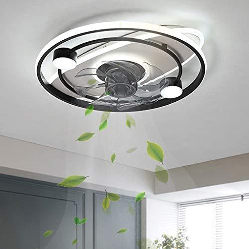 Lámpara de ventilador Led moderna Ventiladores de techo inteligentes Ventiladores con luces Control remoto Lámpara de ventilador de decoración interior para comedor Sala de estar Dormitorio