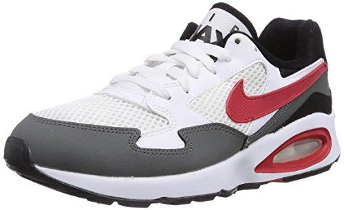 Nike Air MAX ST (GS), Zapatillas para Niños, Blanco/Rojo/Gris/Negro, 39 EU