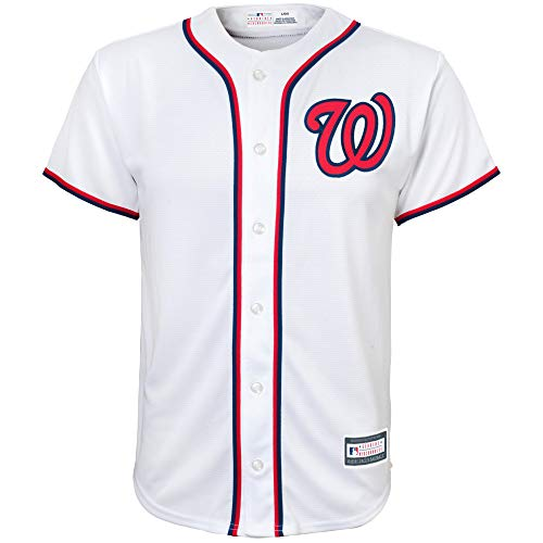 Outerstuff MLB 8-20 Youth Blank Cool Base Home Color Team Jersey (Small 8, Washington Nationals)