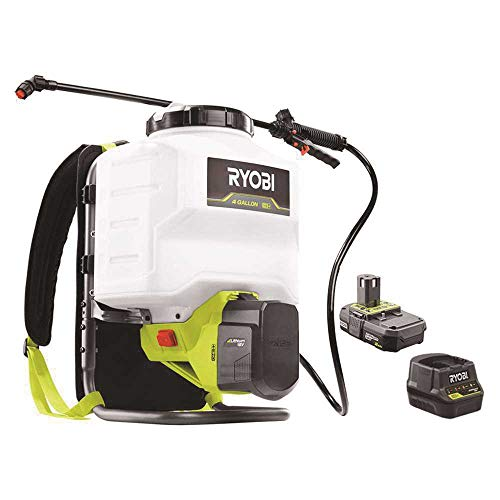 RYOBI ONE+ 18-Volt Lithium-Ion Cordless 4 Gal. Backpack Chemical Sprayer - 2.0Ah Battery and Charger...