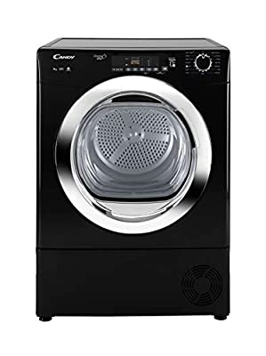 Candy GVS C9DCGB Freestanding Condenser Tumble dryer, NFC Connected, 9Kg Load, Black