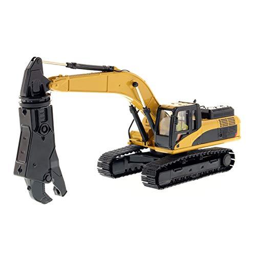 ROCK1ON Metall Hydraulikbagger mit Schere Bagger 1:50 Modell im Maßstab Baufahrzeug Spielzeug Heim und Büro Dekoration Sammlerstücke Geschenk für Kinder Junge