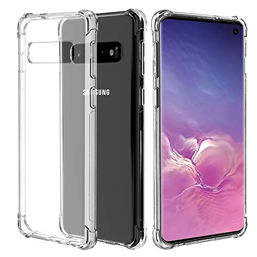Migeec Hülle für Samsung Galaxy S10 Plus Transparent [Stoßfest] Weiche Silikon [Kratzfest] Flex TPU Bumper handyhülle Durchsichtige Schutzhülle