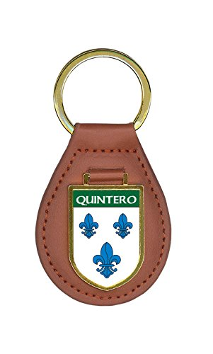 Quintero Family Crest Coat of Arms Key Chains