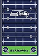 Package of 1 Printed Plastic Table Cover Seattle Seahawks Collection Spread your table and invite your fellow fans over to celebrate your favorite team Heavy plastic Matches our other items in the Seattle Seahawks Collection