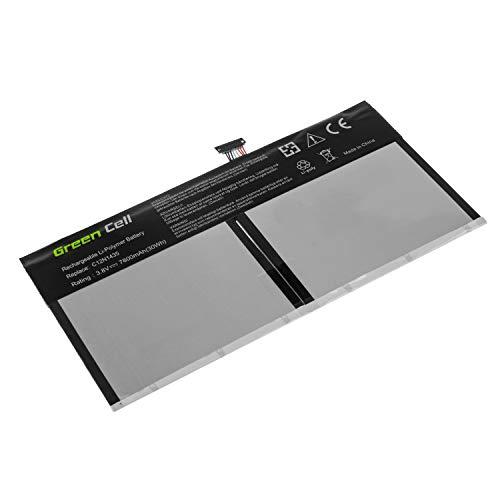 Green Cell® Laptop Akku für Asus Transformer Book T100HA-FU028T T100HA-FU029T T100HA-FU030R T100HA-FU030T T100HA-FU031T T100HA-FU032T (Li-Polymer Zellen 7800mAh 3.8V Schwarz)