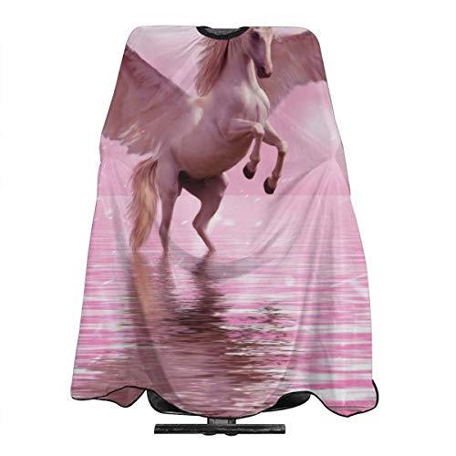 Fantasy Ontwerp Magic Fairy Tale Eenhoorn Paard Professioneel Haar Snijden Salon Nylon Cape Barber Cape Waterdicht Met Snap Sluiting 55