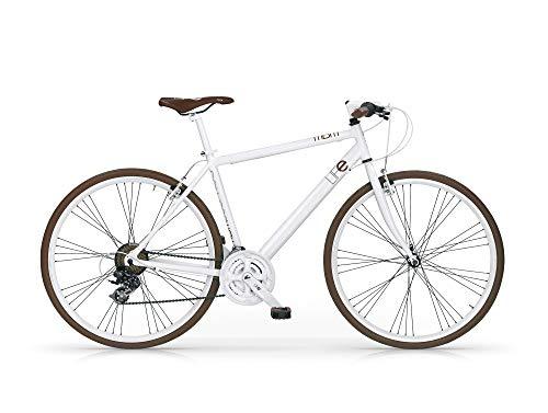 MBM Life 28' Hybrid all 21V REVO, Bici Uomo, Bianco A28, 58