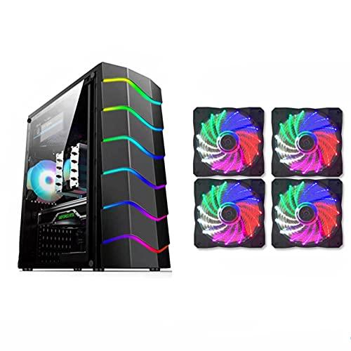 WSNBB Caja De La Computadora, Computadora Matx, Estuche Refrigerado por Agua para Juegos De Vidrio Templado Transparente De Lado Completo Silencioso RGB, Soporte 240 Refrigeración por Agua