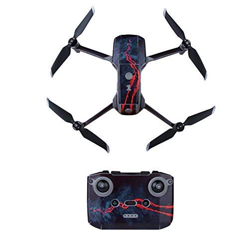 Adhesivo de PVC para control remoto de Dron, impermeable, protector de brazo, protector de pantalla completa, antiarañazos, cuadróptero, accesorios extraíbles, calcomanías para DJI Mavic Air 2 (Magma)