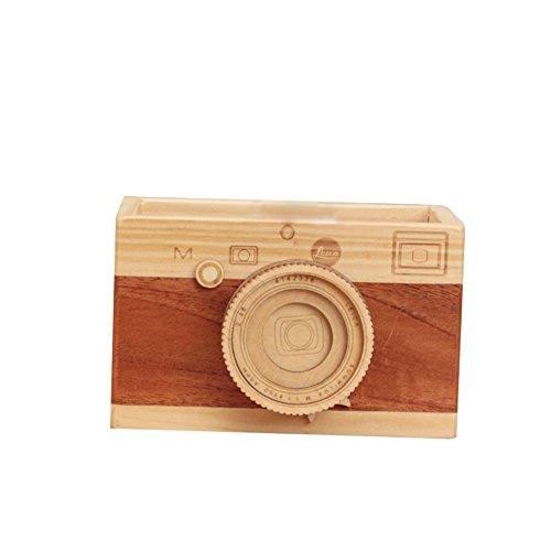 Fablcrew Portamatite,Portaoggetti e portablocchi da scrivania 10 * 9 * 9cm,portamatite a forma di fotocamera,decorazione da scrivania in stile retrò