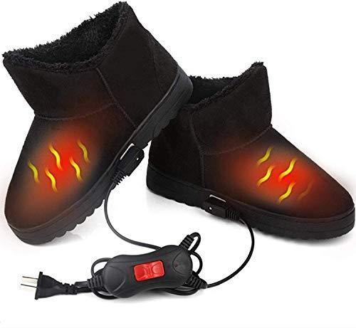 MUXIN Pantofole Riscaldate per Riscaldamento Elettrico per Pantofole Riscaldate, Accogliente Stivaletti riscaldate Suola Morbida, Scarpe riscaldanti, Scarpetta a infrarossi, scaldapiedi,34~37