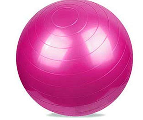 SZKP Yoga-Ball, 55-cm-Yoga-Ball, Dickes, Explosionsgeschütztes Fitness-Yoga, Balance-Gymnastikball Für Männer Und Frauen, Heimfitnessgeräte (Color : Red)