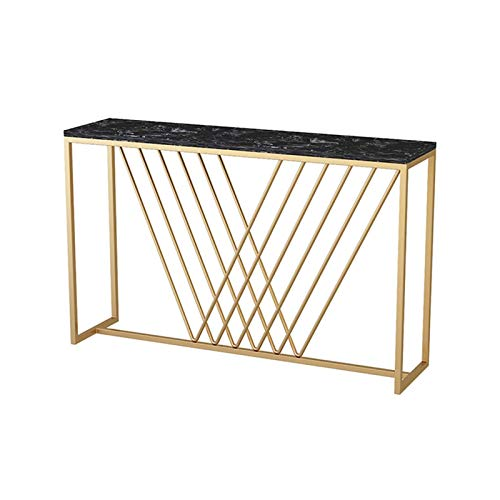 Marble Console Tables, Bar Club Dining Tables Living Room Bedroom Side Tables Kitchen Bar Table Size:80 * 30 * 80CM(Size:80 * 30 * 80CM,Color:#2)