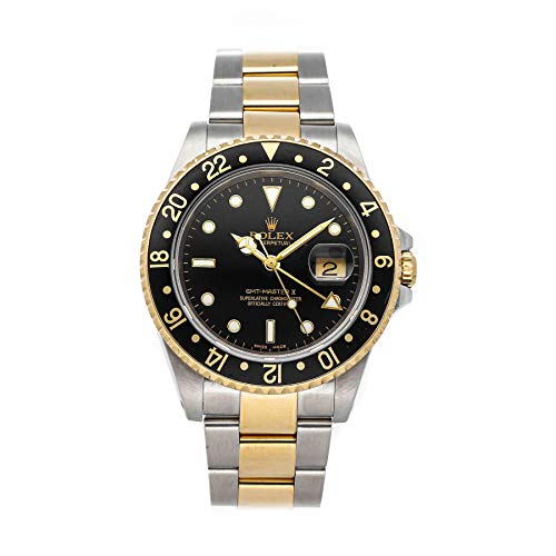 Rolex GMT Master II Mechanical (Automatic) Black Dial Mens Watch 16713 (Certified Pre-Owned)