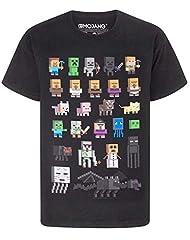 Minecraft Camiseta Cuello Redondo para Niños