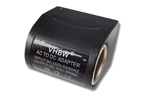 vhbw Adattatore 12V - 220V, trasformatore di Tensione da 500mA per Caricatore, Cavo di Ricarica da Auto