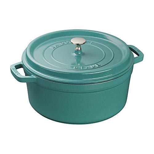 Staub Cast Iron 55qt Round Cocotte  Turquoise