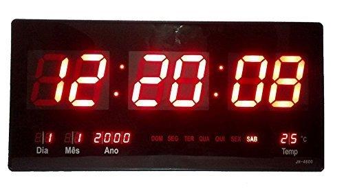 Relógio De Parede Digital Led Gigante Data Termometro