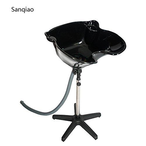 Sanqiao Lave-tête sur Pied Lave- tête Coiffure Bowl Réglable Hauteur Bassin Eévier avec Vidange Salon de Beauté Équipement