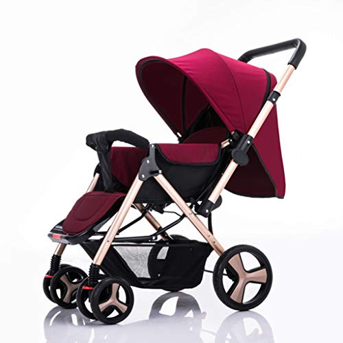 Find Discount DLJFU - Baby Strollers Baby Stroller Buggy Ultra Light Folding Can Sit Or Lie High Lan...