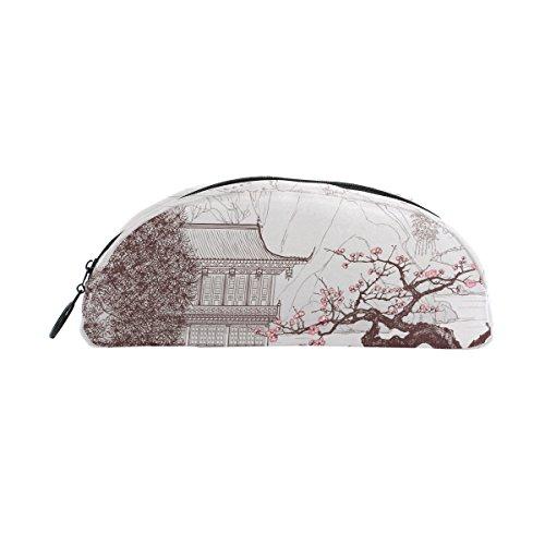 shinesnow Old Chinesische Malerei von Landschaft Bleistift Stift-Tasche für Kinder, der Schule Student Stationery Office Supplies Kosmetik Make-up Tasche für Mädchen Frau