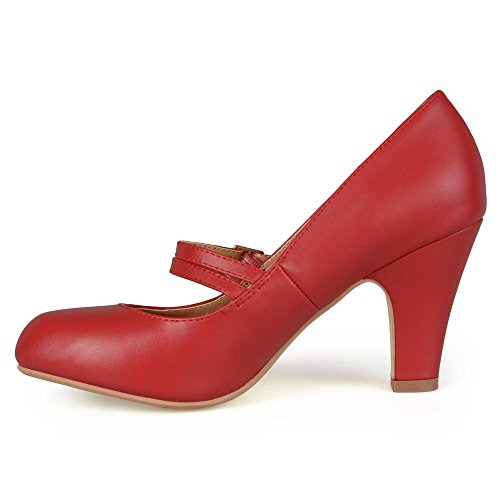 Journee Collection Womens Matte Finish Classic Mary Jane Pumps Red, 8 Regular US